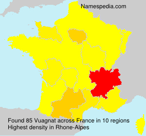 Surname Vuagnat in France