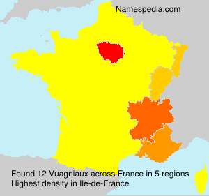 Surname Vuagniaux in France