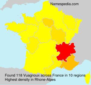 Surname Vuagnoux in France