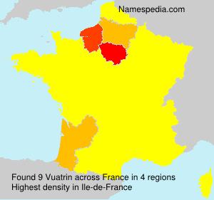 Surname Vuatrin in France