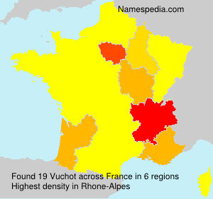 Surname Vuchot in France