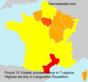Surname Vuebat in France