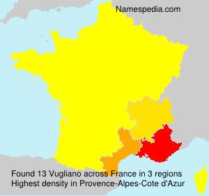 Surname Vugliano in France