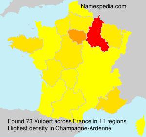Surname Vuibert in France