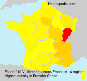 Surname Vuillemenot in France