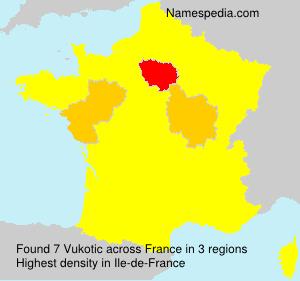 Surname Vukotic in France