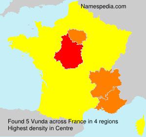 Surname Vunda in France