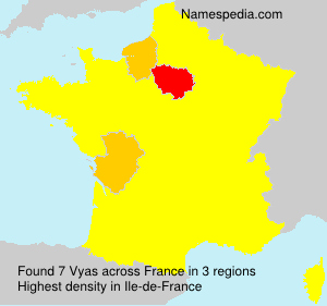 Surname Vyas in France
