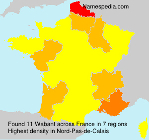 Surname Wabant in France