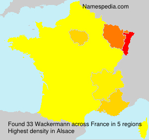 Surname Wackermann in France