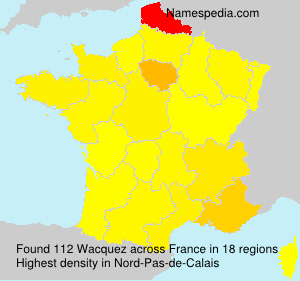 Surname Wacquez in France