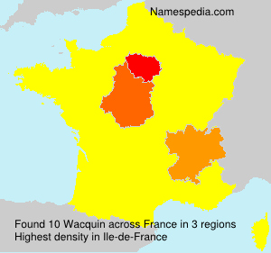 Surname Wacquin in France