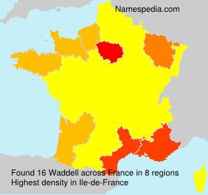 Familiennamen Waddell - France