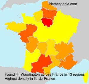 Surname Waddington in France