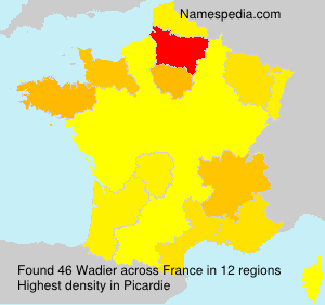 Surname Wadier in France