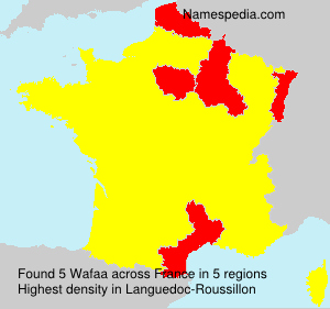 Surname Wafaa in France