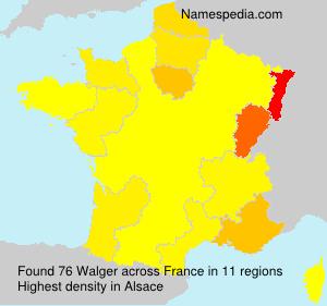 Familiennamen Walger - France