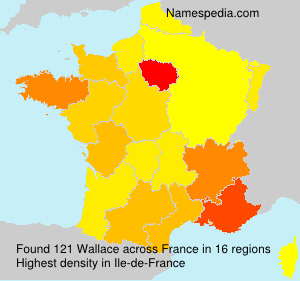 Surname Wallace in France