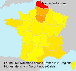 Familiennamen Wallerand - France