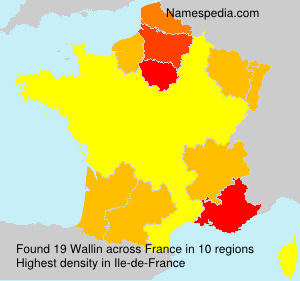 Surname Wallin in France
