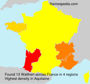 Surname Walthert in France
