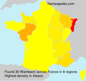 Surname Wambach in France