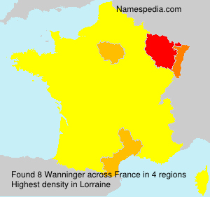 Surname Wanninger in France