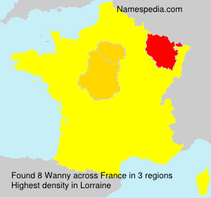 Surname Wanny in France