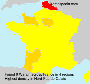 Surname Warain in France