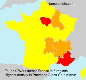 Familiennamen Wark - France