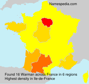 Surname Warman in France