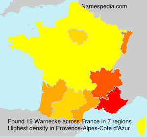 Surname Warnecke in France
