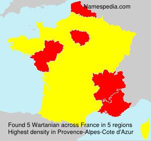 Surname Wartanian in France