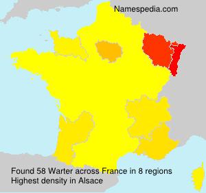 Familiennamen Warter - France