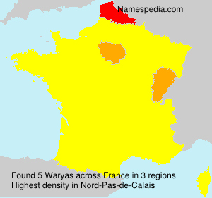 Surname Waryas in France