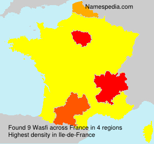 Surname Wasfi in France