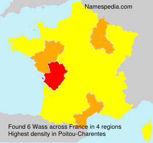 Surname Wass in France