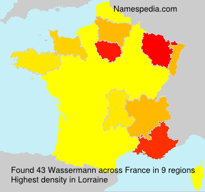 Surname Wassermann in France