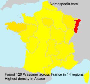 Familiennamen Wassmer - France
