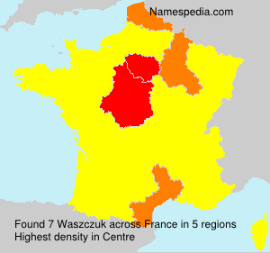 Surname Waszczuk in France