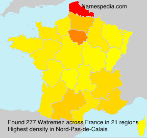 Surname Watremez in France