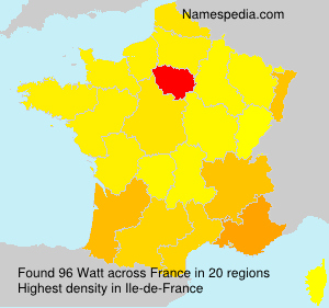 Surname Watt in France
