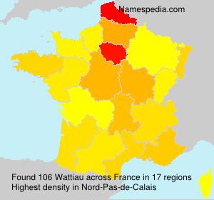 Surname Wattiau in France