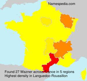 Surname Wazner in France