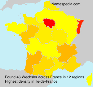 Surname Wechsler in France