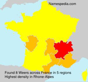 Surname Weers in France