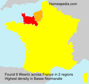 Familiennamen Weertz - France