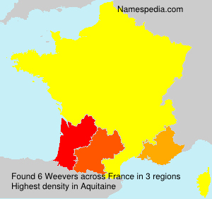 Surname Weevers in France