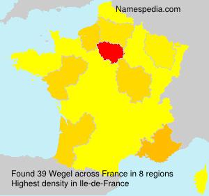 Surname Wegel in France