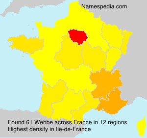 Surname Wehbe in France